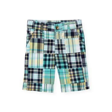 Boys Yellow Patchwork Patchwork Short at JanieandJack