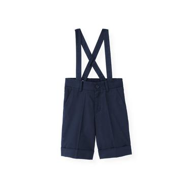 Boys Classic Navy Twill Suspender Short at JanieandJack