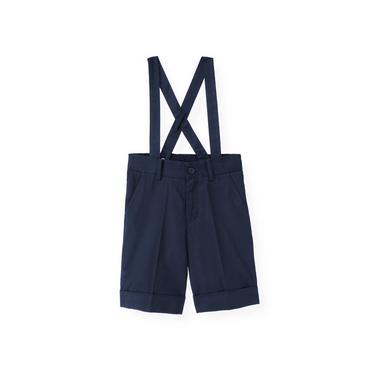 Boys Classic Navy Twill Suspender Short at JanieandJack