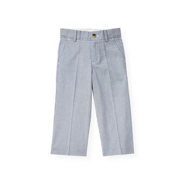 Boys Steel Blue Stripe Stripe Suit Trouser at JanieandJack