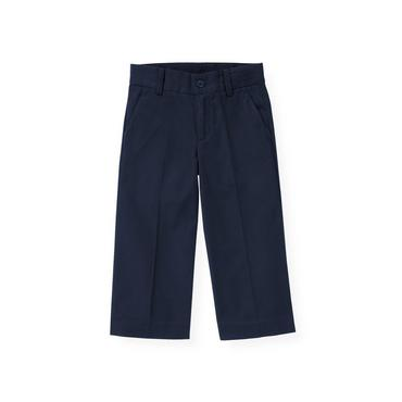 Boys Classic Navy Twill Suit Trouser at JanieandJack