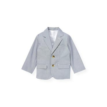 Steel Blue Stripe Stripe Suit Blazer at JanieandJack