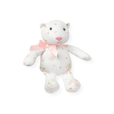 Barely Pink Floral Floral Bear Rattle at JanieandJack