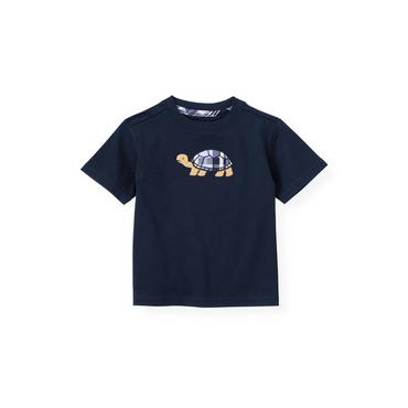Boys Classic Navy Turtle Tee at JanieandJack