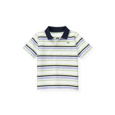 Boys Purple Thistle Stripe Stripe Polo Shirt at JanieandJack