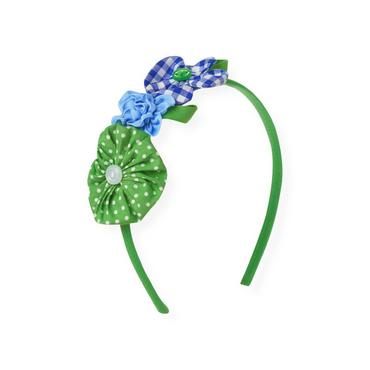 Spring Green Flower Appliqué Headband at JanieandJack