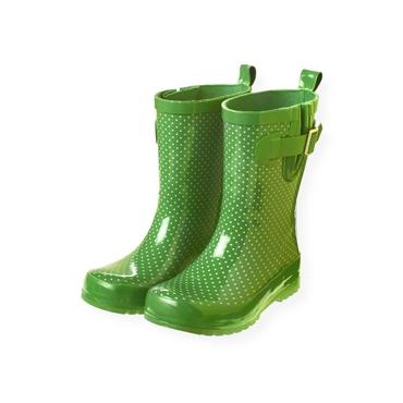 Spring Green Dot Dot Rainboot at JanieandJack