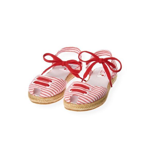 Stripe Seersucker Espadrille Sandal