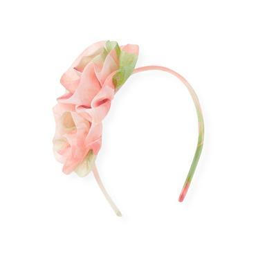 Spring Floral Floral Organza Rosette Headband at JanieandJack