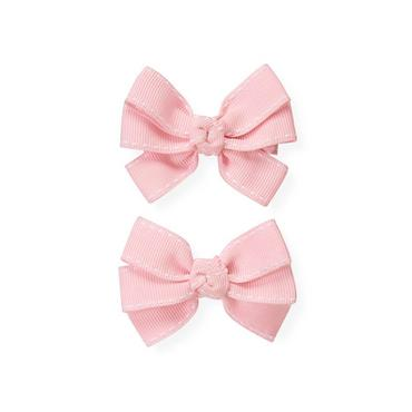 Orchid Pink Grosgrain Bow Barrette Two-Pack at JanieandJack