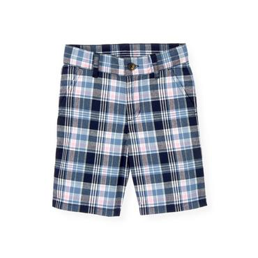 Boys Blue Sail Plaid Madras Plaid Short at JanieandJack