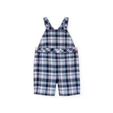 Boys Blue Sail Plaid Madras Plaid Shortall at JanieandJack