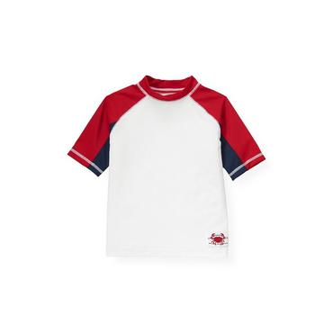 Pure White Pieced Rash Guard at JanieandJack