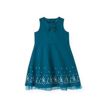 City Blue Floral Embroidered Dress at JanieandJack