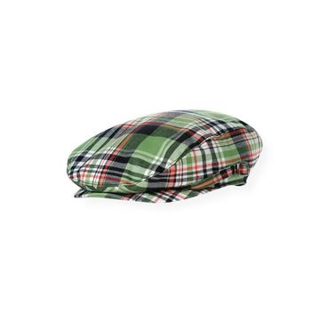Boys Frog Green Plaid Plaid Cap at JanieandJack