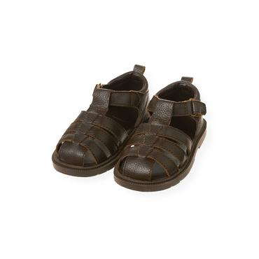 Dark Brown Fisherman Sandal at JanieandJack
