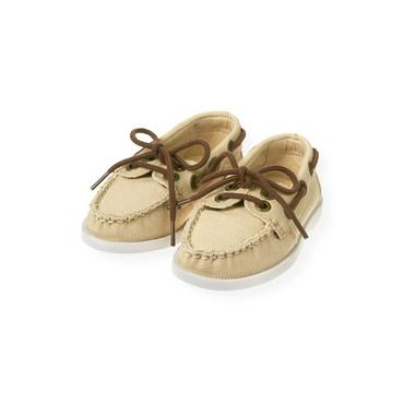 Classic Khaki Canvas Boat Shoe at JanieandJack