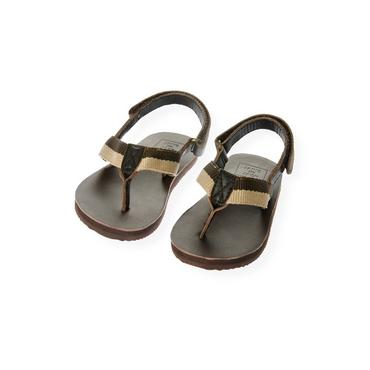 Dark Brown Leather Flip Flop at JanieandJack