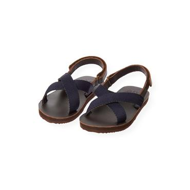 Classic Navy Criss Cross Sandal at JanieandJack