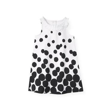 Classic Black Dotted Ponte Dress at JanieandJack