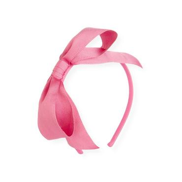 Butterfly Pink Grosgrain Ribbon Bow Headband at JanieandJack