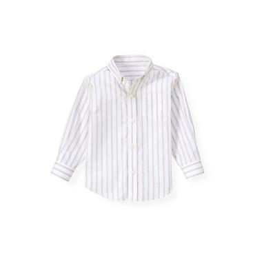 Pale Lavender Stripe Stripe Woven Dress Shirt at JanieandJack