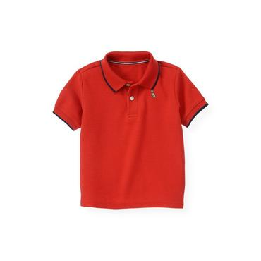 Boys Beachfront Red Tipped Polo Shirt at JanieandJack
