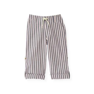 Boys Washed Beachfront Navy Stripe Stripe Roll Cuff Pant at JanieandJack