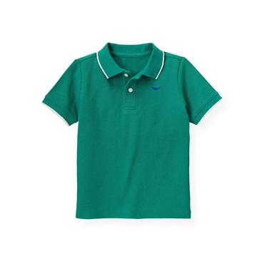 Boys Sea Green Whale Tipped Polo Shirt at JanieandJack