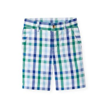 Boys Cobalt Blue Check Checked Short at JanieandJack