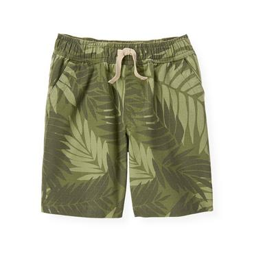 Boys Olive Green Palm Ripstop Short at JanieandJack