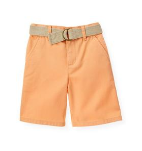 Belted Twill Short