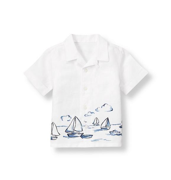 Sailboat Linen Shirt