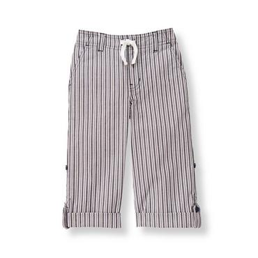 Boys Railroad Stripe Stripe Roll Cuff Pant at JanieandJack