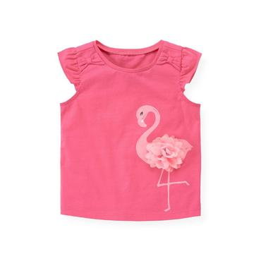 Azalea Pink Flamingo Corsage Top at JanieandJack