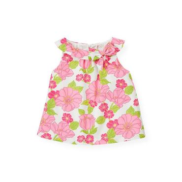 Azalea Pink Floral Bow Neck Floral Top at JanieandJack