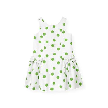 Palm Green Dot Bow Dot Dress at JanieandJack