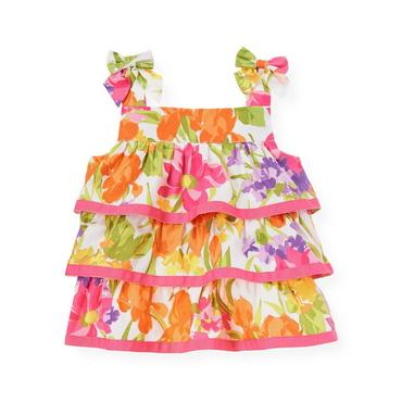 Orchid Pink Floral Floral Tiered Top at JanieandJack