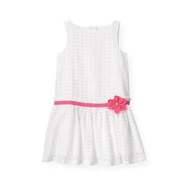 Pure White Flower Corsage Eyelet Dress at JanieandJack