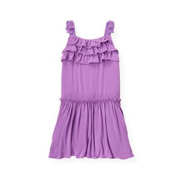 Orchid Purple Ruffle Knit Dress at JanieandJack
