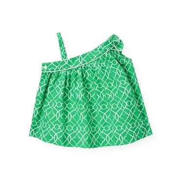 Emerald Green Tile Print Top at JanieandJack