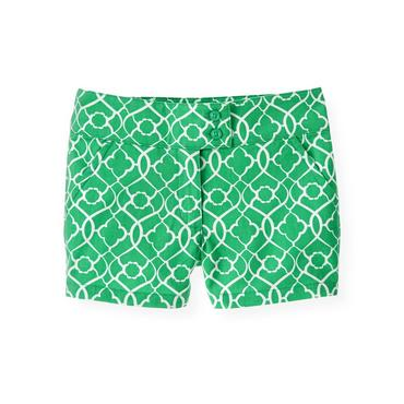 Emerald Green Tile Print Short at JanieandJack