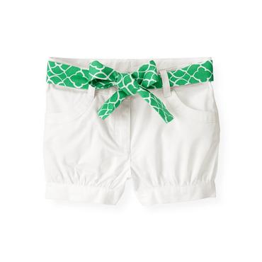 Pure White Belted Cuffed Short at JanieandJack