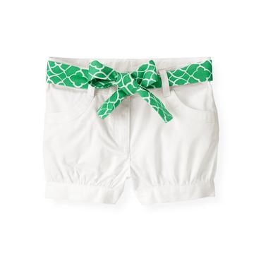 Pure White Belted Cuffed Short at JanieandJack