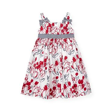 American Red Floral Pleated Floral Dress at JanieandJack
