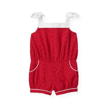 American Red Eyelet Romper at JanieandJack