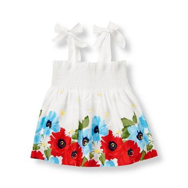 Pure White Smocked Floral Top at JanieandJack