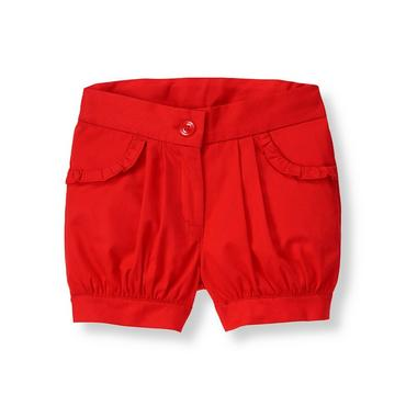 Vivid Red Cuffed Bubble Short at JanieandJack