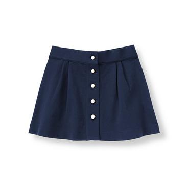 Classic Navy Pleated Ponte Skirt at JanieandJack