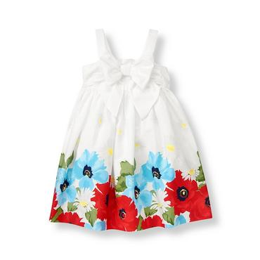 Pure White Bow Floral Dress at JanieandJack